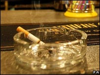 A cigarette in a bar