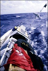 The Moksha braves angry seas. (Copyright Expedition 360.com)