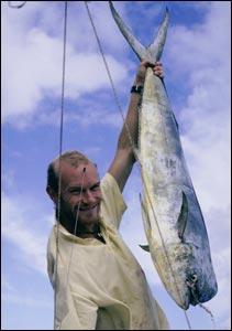 Steve Smith with a Dorado fish catch. (Copyright Expedition 360.com)