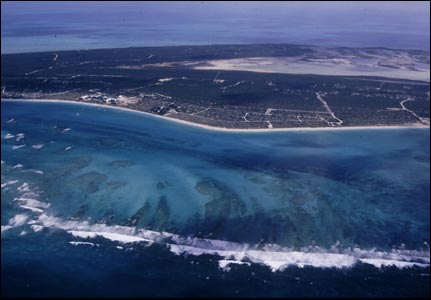 Providenciales, Turks and Caicos Islands - first landfall for Jason Lewis and Steve Smith on crossing the Atlantic .  (Copyright Expedition 360.com)