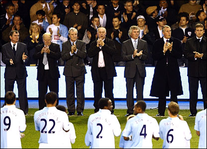 Spurs legends, including David Pleat and Ray Clemence, celebrate the club's 125th anniversary