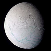 Enceladus. Image: Nasa/JPL/Space Science Institute.