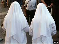 Generic photograph of nuns
