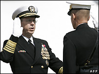 Admiral Michael Mullen is sworn-in as chairman of the Joint Chiefs of Staff - 1/10/2007