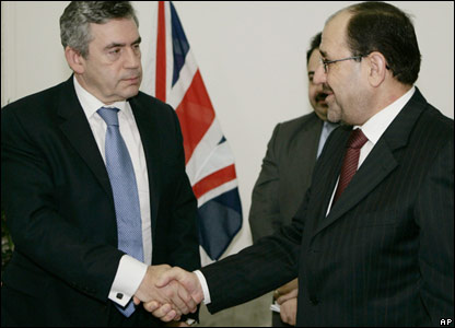 Gordon Brown and Iraqi Prime Minister Nouri Maliki