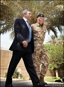 Gordon Brown and Air Chief Marshal Sir Jock Stirrup