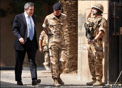 Gordon Brown and Air Chief Marshal Sir Jock Stirrup