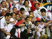 Egypt celebrating winning the 2006 Nations Cup