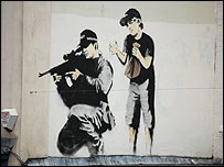 The suspected Banksy