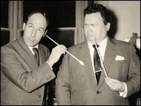 Oxfam shop founder Joe Mitty and Harry Secombe