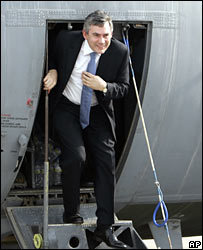 Gordon Brown in Iraq