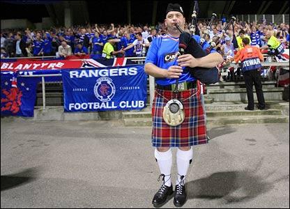 Rangers fans in Lyon