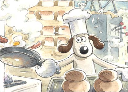 Gromit the kitchen - Aardman Animations 2007