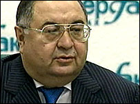Alisher Usmanov at his press briefing in Moscow