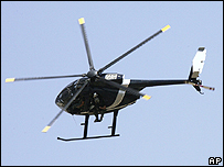 Un helicóptero de Blackwater sobrevuela Bagdad