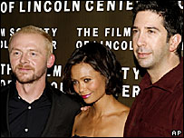 Simon Pegg, Thandie Newton and David Schwimmer