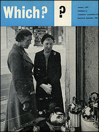 First edition of Which? in October 1957