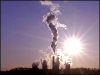 Emissions from a UK power station