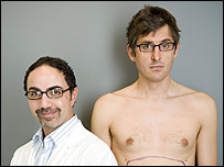 Plastic surgeon Dr David Amron and Louis Theroux