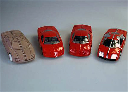 Captain Scarlet's cars. Corgi was one of the first companies to produce