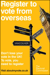 Electoral Commission poster campaign