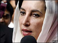 Benazir Bhutto in London, 3 Oct