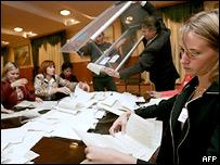Подсчет голосов на выборах Рады