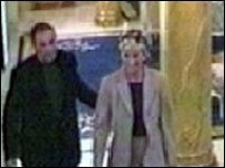 Diana, Princess of Wales and Dodi Al Fayed on CCTV