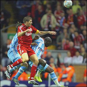 Steven Gerrard, Liverpool; Mamadou Niang and Boudewijn Zenden, Marseille