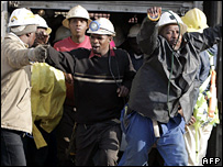 Rescued South African miners, 4 October, 2007