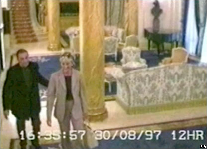 CCTV still of Diana and Dodi inside the Ritz Hotel released to inquest on 3 October