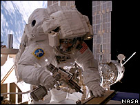 Sunita Williams on a space walk (Nasa)