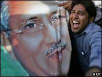 Supporter of President Pervez Musharraf