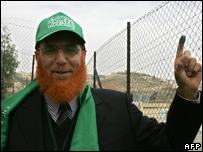 A Hamas official during the 2006 elections