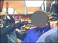A still from the robbery CCTV