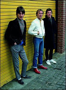 Paul Weller, Rick Buckler and Bruce Foxton in 1982: photograph copyright Twink