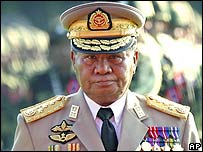 Burma's military leader Gen Than Shwe