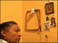 A resident of the Xochiquetzal home