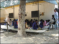 Pupils at Rah-e-Amal school