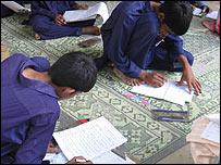 Pupils at Rah-e-Amal school