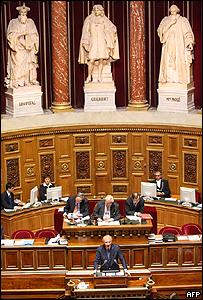 Cámara del Senado en París