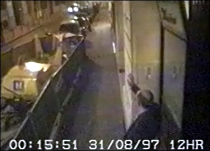 CCTV still of Henri Paul waving at rear of Ritz Hotel in Paris released to inquest on 4 October