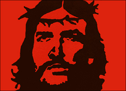 Image of Christ based on Che Guevara. Image courtesy of Churches Advertising Network