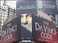 """Afiche del libro """"El código Da Vinci"""""""
