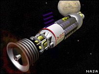 Spacecraft with nuclear propulsion. Image: Nasa.