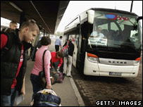 Polish workers bound for Britain