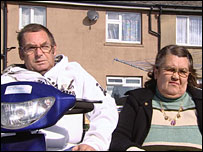 David and Maureen Bradbury outside their home