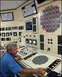 Control room at a nuclear plant in Tennessee (file image)