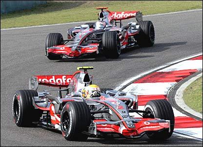 McLaren's Lewis Hamilton and Fernando Alonso