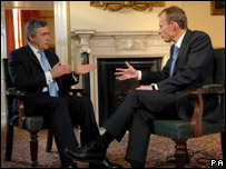 Gordon Brown speaks to Andrew Marr